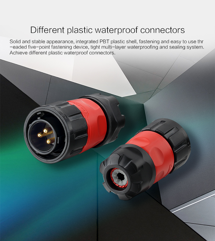 Cnlinko connector 9 pin waterproof bulkhead electrical connector waterproof plug and socket with 9 pin