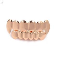 Новые хип-хоп золотые зубы Grillz Топ и низ грили зубные рот Панк зубы шапки Косплей вечерние зуб Рэппер Смешные ювелирные изделия подарок(Китай)