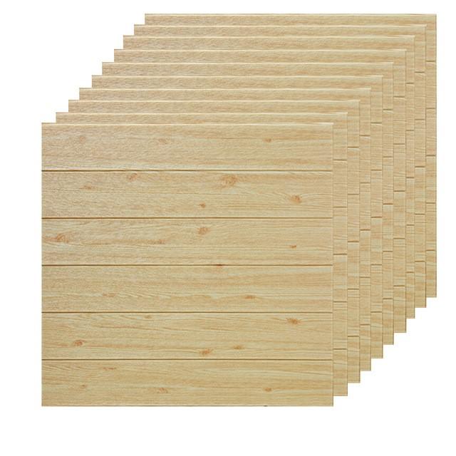 YIYAO 3D 자체 접착 벽 패널 방수 PE 거품 나무 정맥 벽지