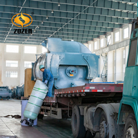 Industrial gas diesel oil steam boiler with riello gas burner