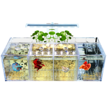 Led multi grille transparente acrylique aquarium de réservoir de poisson