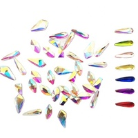 Factory direct sales K9 crystal stone for nail art decoration product,glass beautiful nail art designs crystal stone