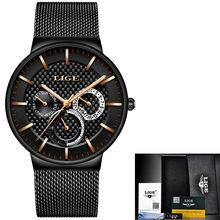 Женские кварцевые часы LIGE, розовое золото, Топ бренд, роскошные женские часы для девушек, Часы Relogio Feminino + коробка, 2020(China)