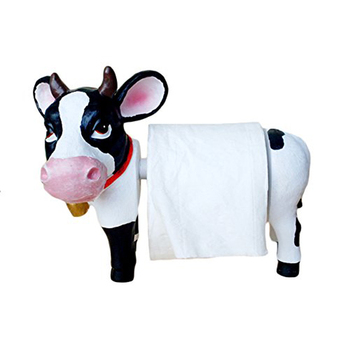 Cow bathroom tissue ceramic Toilet Paper Holder