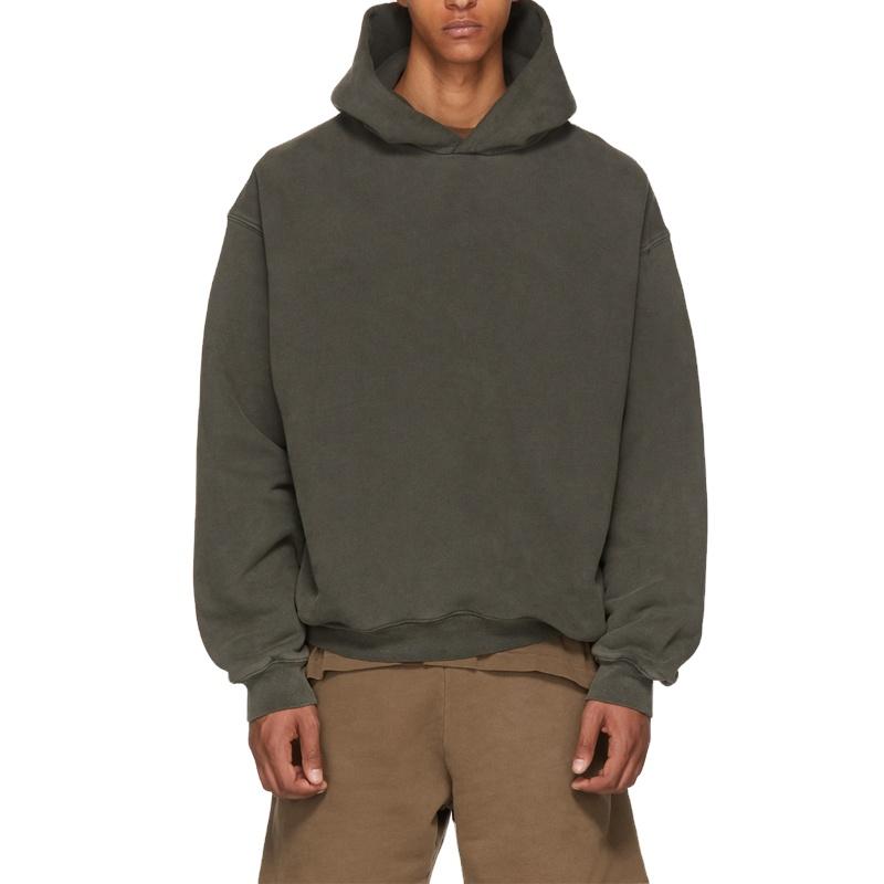 100% ฝ้ายเสื้อกันหนาวHoodiesเย็บปักถักร้อยโลโก้Hooded Sweatshirts
