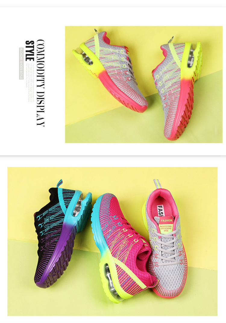 wholesale custom mesh fabric female sneakers ladies running shoes popular  trainers athletic casual women sports shoes