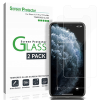 For iPhone 11 Pro Max 6 7 8 Plus Screen Protector Glass, Tempered Glass Screen Protector for Apple iPhone XS Max XR(2-Packs)