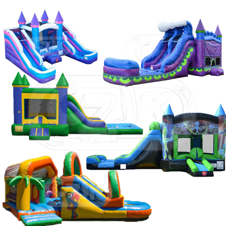 inflatable bouncer jumper bouncy jumping castle bounce house with swimming pool