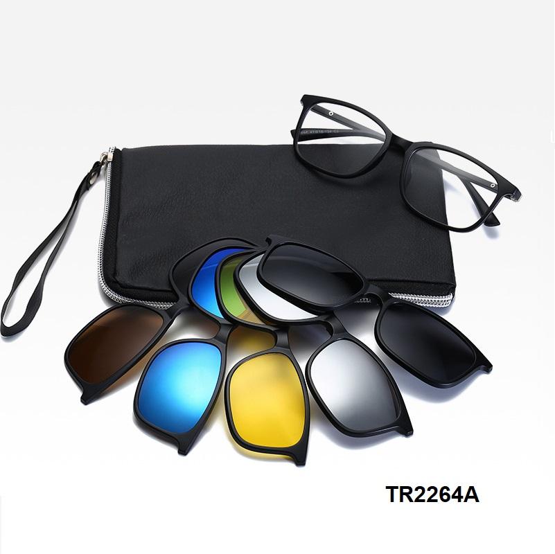 5 클립 휴대용 편광 선글라스 UV400 보호
