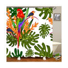 Popular New Fancy Designs Beautiful Bathroom Shower Curtain Tropical