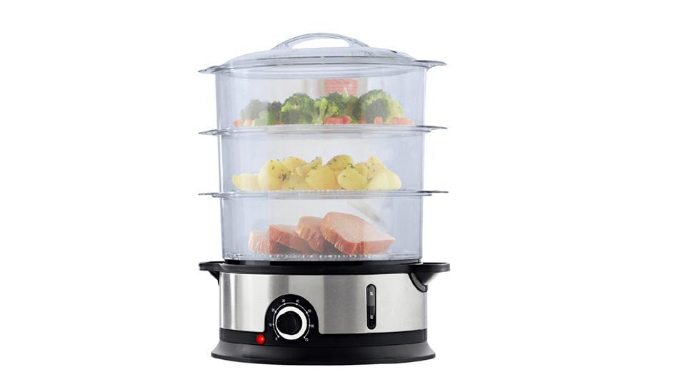 Лучший 3 яруса кружевных электрический распаровщик еды для приготовления 9L домашние электрические пароварки многоцелевой распаровщик еды