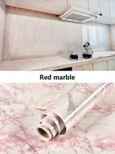 Толстый водонепроницаемый ПВХ имитация мрамора шаблон наклейки обои самоклеющиеся ремонт мебели плитка для спальни 60*100 см(Китай)