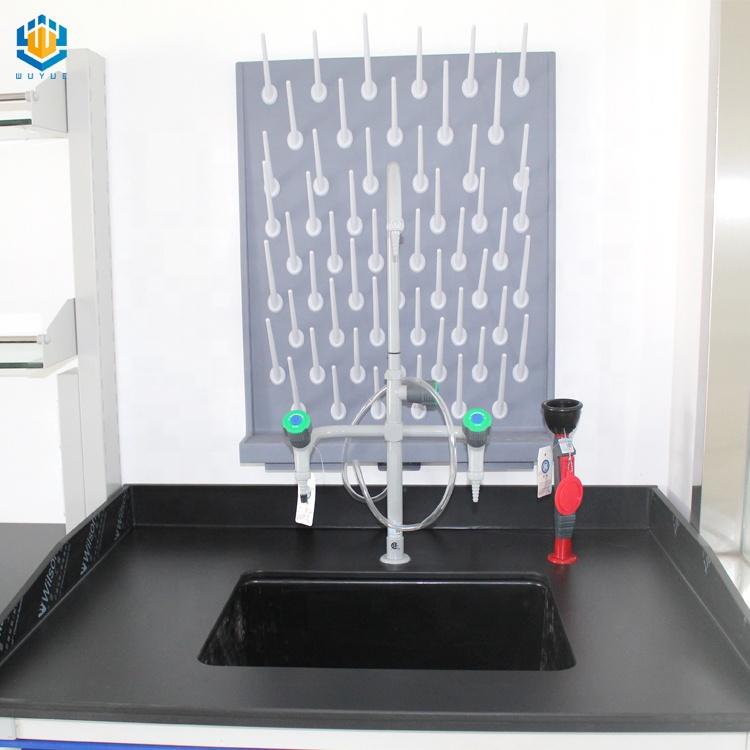WUY — support de goutte-à-goutte de meubles de laboratoire et d'accessoires, banc latéral de bureau avec planche PP pegboard, support sec