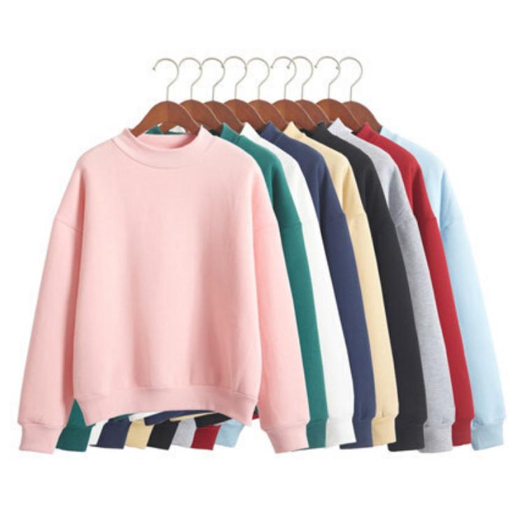 women spring crewneck sweatshirt custom logo embroidered jumpers women workout pullover plain hoodies