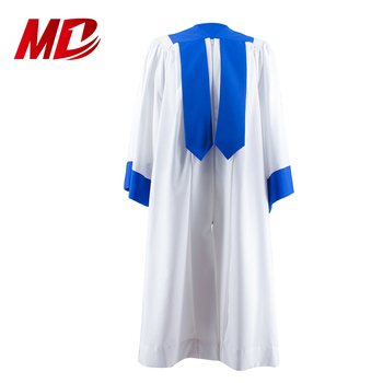 Custom Royal Blue Fluted Choir Robes with Open Sleeve 100% With embroidery logo