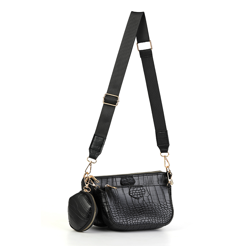 product-GF bags-alligator pattern Solid color soft leather chain women shoulder bag 2020 women shoul-1