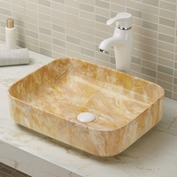 Ceramic Sanitary Ware And Fittings Bathroom Accessories Rectangular Art Basin A422-P58