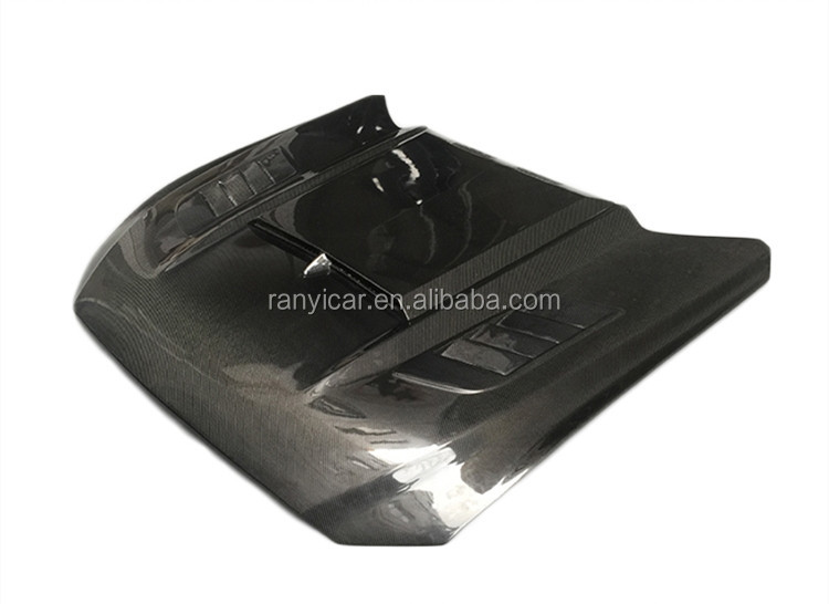 Carbon Fiber Front Engine Hood Bonnet for Ford Mustang Coupe Convertible 2 Door 2015-2017 Car Styling