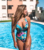 Ladies Sexy Multi Strand Thin Digital Printing Swimwear Flower Floral One Piece Tankini 2020 Fashion Bikini Woman Sexy Bikini