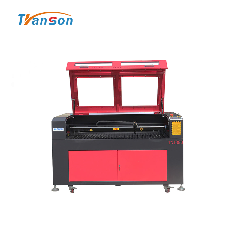 130W Co2 Laser Cutting Engraving Machine TN1390 with Reci W6 Tube used for  wood paper acrylic leather plastic stone glass