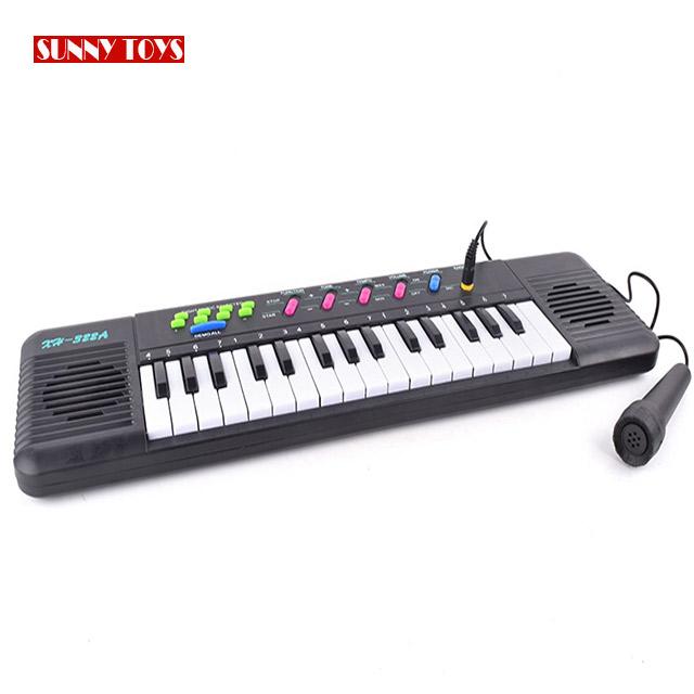 32 tasti di pianoforte strumento musicale giocattolo del bambino dell'organo elettronico tastiera per i bambini con microfono