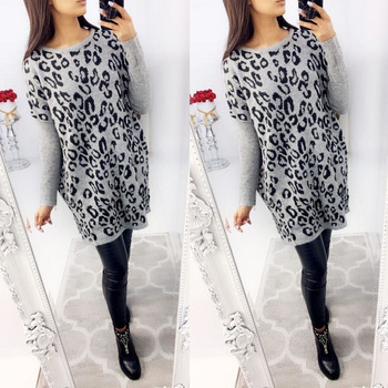 Leopard Print Women Fall Clothing Long Sleeve Dresses Autumn Women Casual Dresses 2020 Dresses Women Clothing