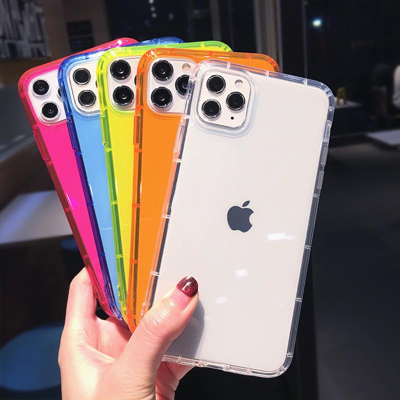 Para O Iphone Caso Neon, design personalizado À Prova de Choque Durável TPU Fluorescente Neon Caso de Telefone Para O Iphone 11 Pro Max Xr Xs Max