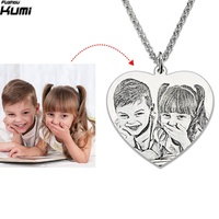 Personalized Baby Photo Pendant Customized Engraved jewelry