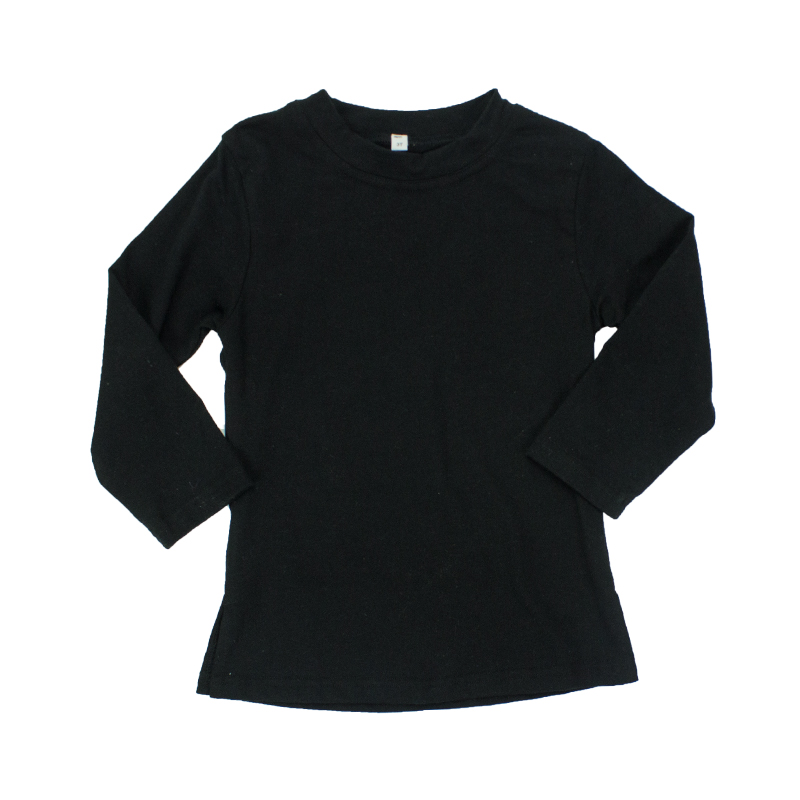 Baby clothing New arrival High quality Long sleeve Black Kids 100%cotton Unisex T-shirt