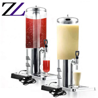 Wedding catering equipment plastic buffet hot and cold drink milk orange juicer dispenser cold beverage dispenser with tap