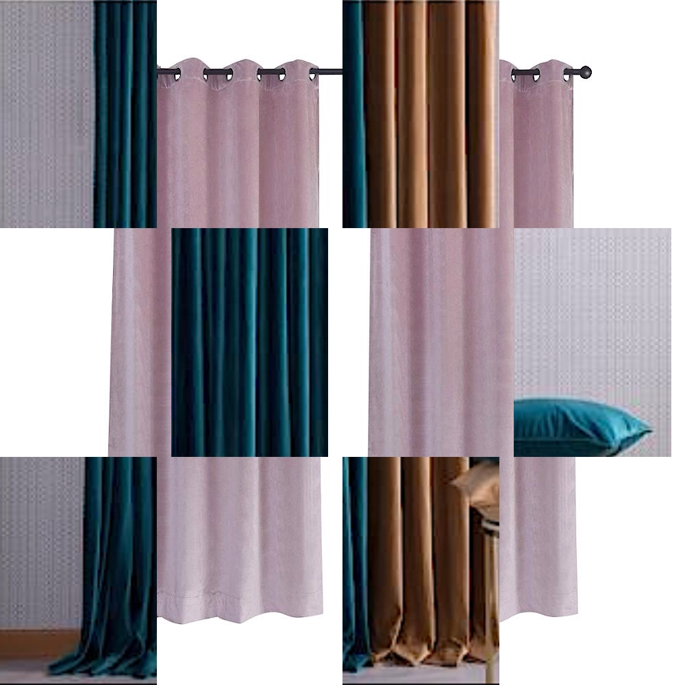 Customized Heavy Velvet Fabric Luxury and Elegance Valance Dubai Window black out Curtain