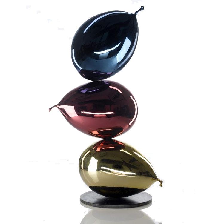Modern handmade stainless steel of a metal ballon sculpture for sale