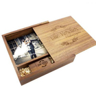 USB 3.0 walnut wooden Photo Album usb+Box usb flash drive Pendrive 8GB 16GB 32GB 64GB Wedding gifts Free custom logo