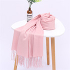 Wholesale winter long head wrap hijab brand scarf shawl muslim women cashmere scarf