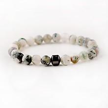 Модные браслеты из Обсидианового гематита с бусинами, мужские браслеты из лавового камня, браслет с крестиком, гематит, очаровательный брас...(Китай)