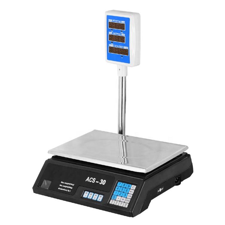 Elektronik Skala Berat Digital Supermarket Price Computing Scale Mesin