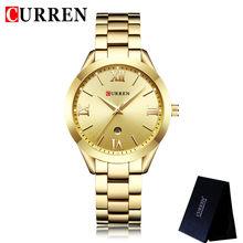 Женские часы CURREN, модные, классические, из нержавеющей стали, 9007(Китай)