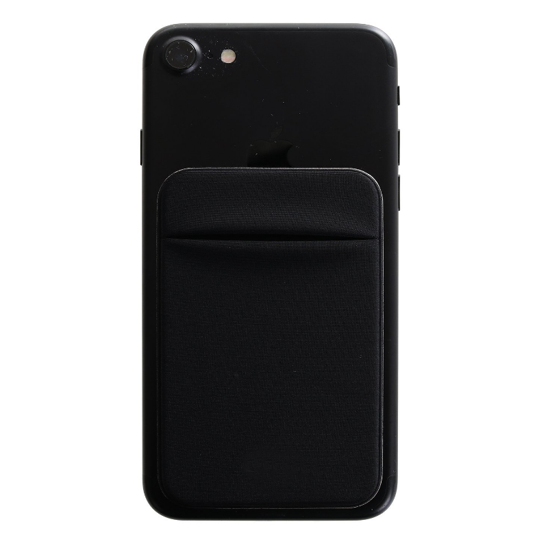 lycra card holder Back Cheap Sticker Case <strong>Cell</strong> <strong>Phone</strong> <strong>Pocket</strong> with Lid