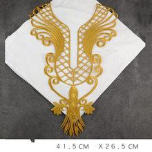 2 пары/2 шт большой размер Золото Серебро железо на вышитом узоре корсаж ткань патч воротник цветок вечернее платье барокко DIY Appliue(Китай)