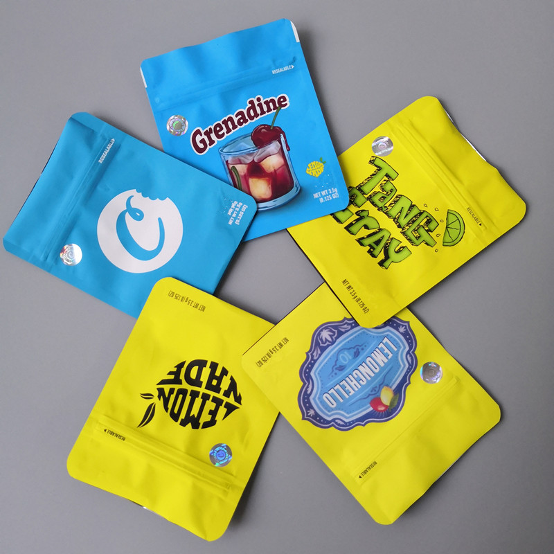 Cookies California mylar bags TANG ERAY Plastic Child Resistant Biodegradable lemon nade Bags with Custom Company Logo