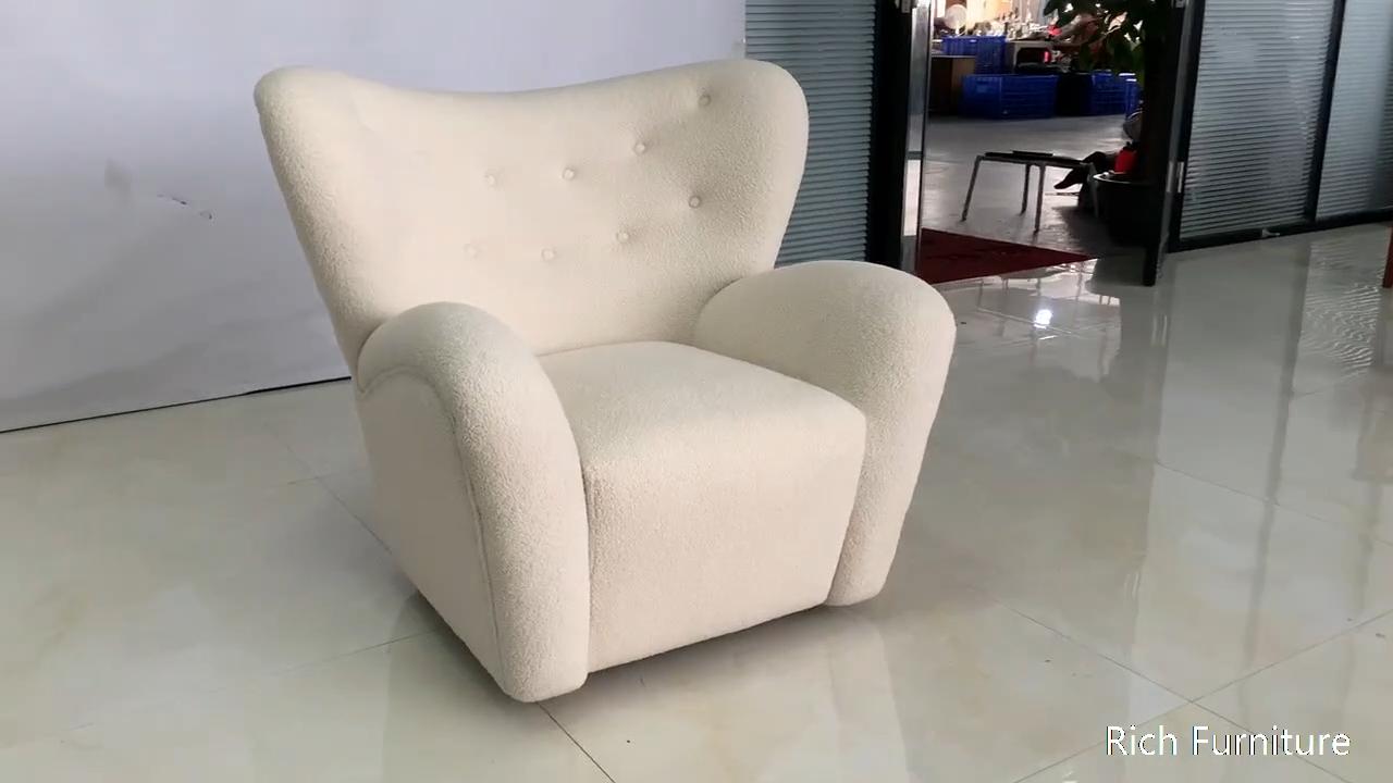 Moderno y elegante casa muebles de sofá de tela piel de oveja Teddie Piel de peluche cubierta de silla de acento
