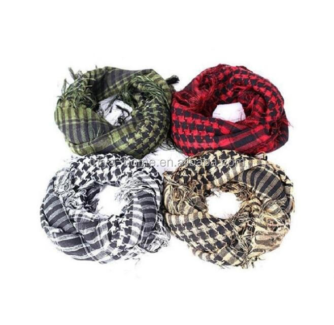 Outdoor hijab scarf / muslim collar shawl / tactical cotton windproof shemagh Arab scarf