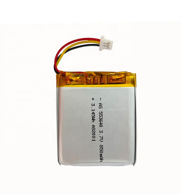 UL2054 553640 rechargeable lithium polymer Lipo 3.7V 850mAh li-ion polymer battery for GPS tracking