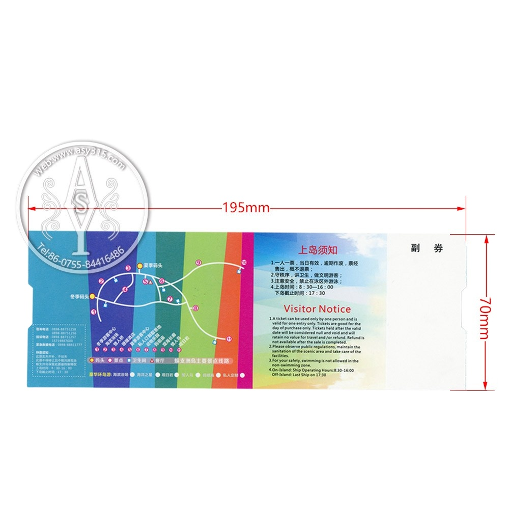 Factory direct sale full color printing Paper scratch winning card/lottery ticket