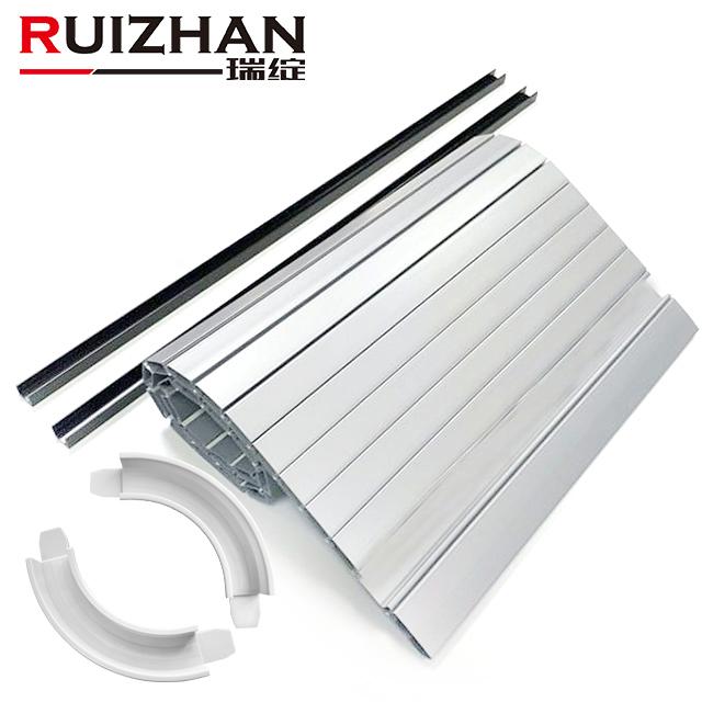 Ruizhan Kitchen Roller Cabinet Horizontal Slatted Tambour Door Wooden Cabinet Roller Shutter
