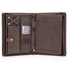 Винтажный кожаный чехол-книжка для iPad Pro 11 10,5 Air 3 10,2, Защитная пленка для планшета iPad 9,7 Air 2, держатель для журнала на молнии(Китай)