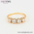 15846 Xuping Jewelry custom ring, Fashion 18K Gold Plated Woman custom ring with four large zircons