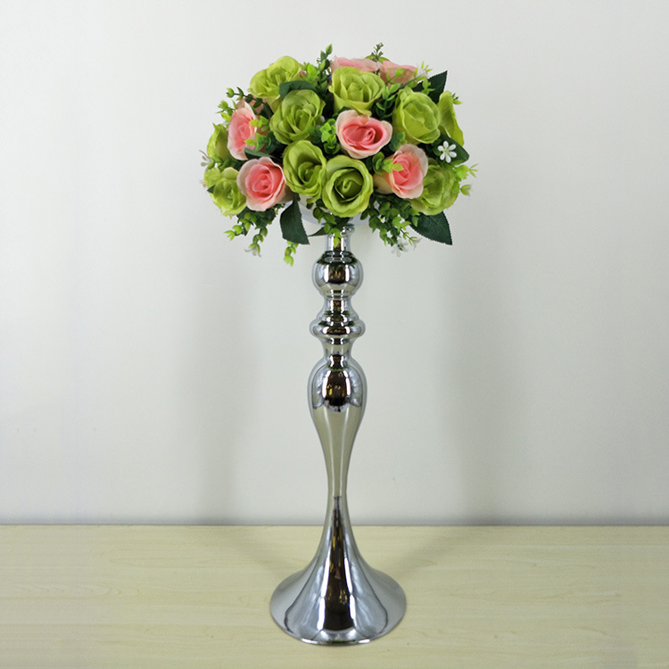 Gold Metal Candle Holders Road Lead Candelabra Centre Pieces Wedding Decoration 32 38 50cm Stand Flowers Vase Candlestick