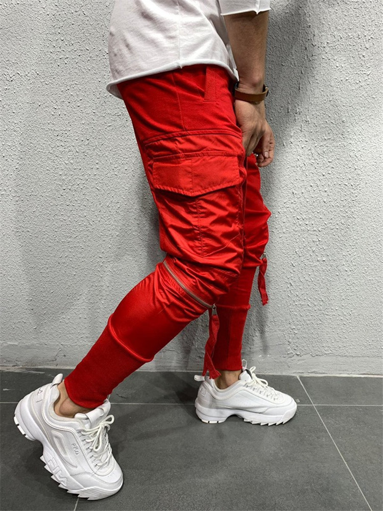 wholesale custom track jogging pants with pockets Slim Fit gym mens jogger pants sweatpants