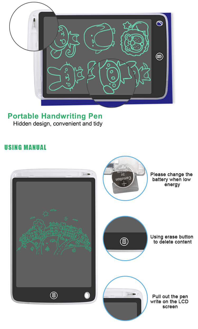 Wholesale Transparent Office Electronic Drawing Pad Lcd Writing Board For Kids